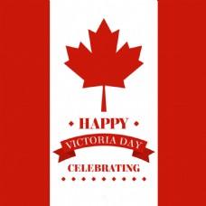 庆祝维多利亚日加拿大国旗背景
