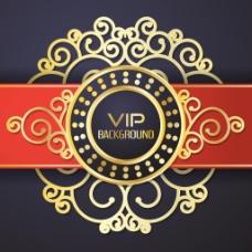 华丽红黑VIP背景矢量素材下载