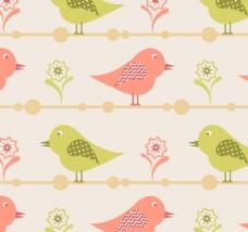 可爱鸟无缝模式