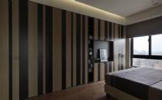 港式简约卧室背景墙设计图