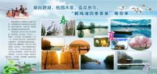 鹤鸣湖四季旅游展板
