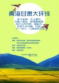 青海油菜花海旅游海报