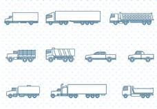 手绘货车图标设计