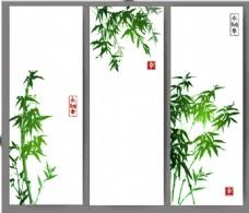 翠绿色的竹子