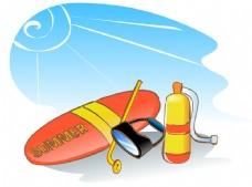 皮划艇灯光素材