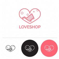 圆形购物标志logo设计