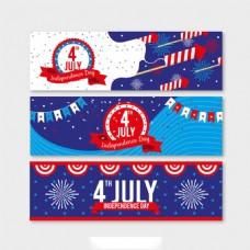 创意图案美国独立日横幅背景
