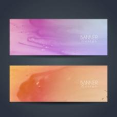 抽象彩色的背景banner广告素材