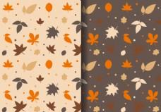 秋季手绘叶子背景