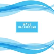 白色背景蓝色波浪状广告矢量模板