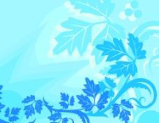 树叶花纹素材背景