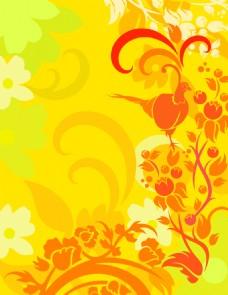 矢量植物花纹素材背景
