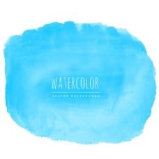 淡蓝色水彩笔触背景