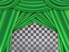 绿色窗帘背景素材