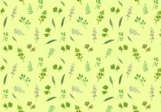 手绘清新植物树叶背景素材