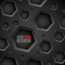 黑色立体几何背景
