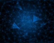 蓝色科技连线背景
