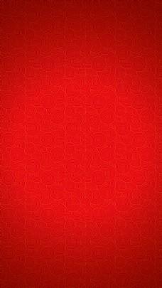 中国风红色祥云花纹H5背景