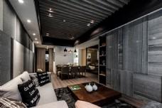 港式时尚客厅背景墙设计图