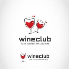 创意红酒杯子logo标志设计