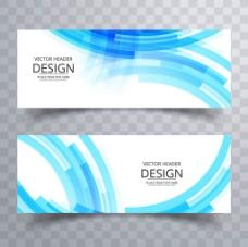 现代创意蓝色抽象几何图形矢量广告背景素材