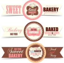 甜蜜面包徽章横幅素材下载