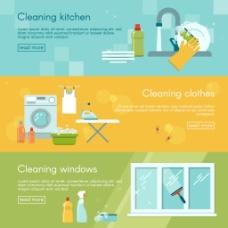 家庭清洁用品背景