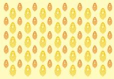 唯美黄色孔雀羽毛背景素材
