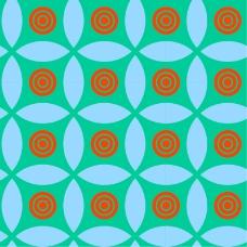 圆环花纹背景图案