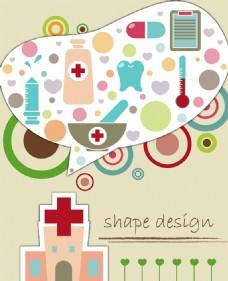 矢量医药元素背景设计
