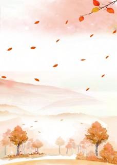 秋天落叶背景