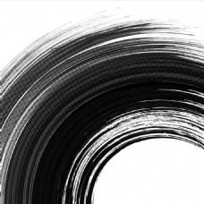 黑色圆形水彩笔触背景