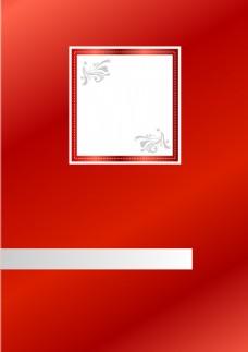 素描花朵红色背景