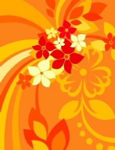 放射线条花纹背景