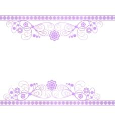 花边紫色清新