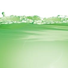 绿色水波纹
