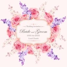 粉色浪漫玫瑰花