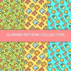 各种夏天元素装饰图案