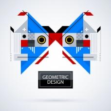 抽象几何面部背景设计