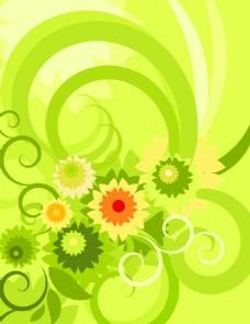 花纹花卉矢量背景