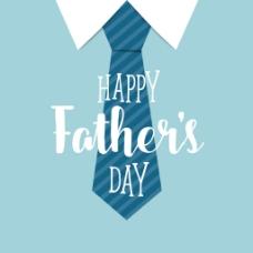 快乐的父亲节与蓝色领带背景