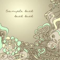 卡通花卉纹理图案设计