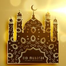 金色背景伊斯兰元素图标