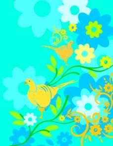 花卉花纹素材背景