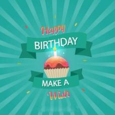 生日快乐蛋糕射光背景