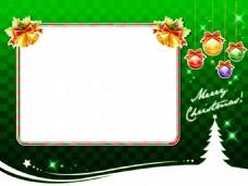 圣诞树彩蛋绿色背景