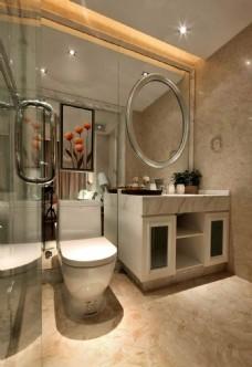 时尚卫生间马桶洗手台设计图