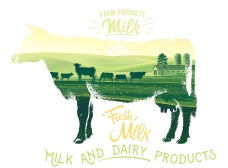 牛奶主题矢量素材