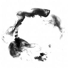 水墨漂浮物黑色