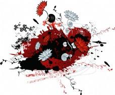 植物花纹背景图案